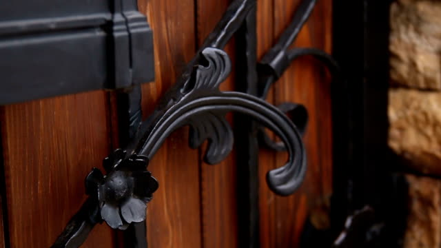 Alte hölzerne Tür