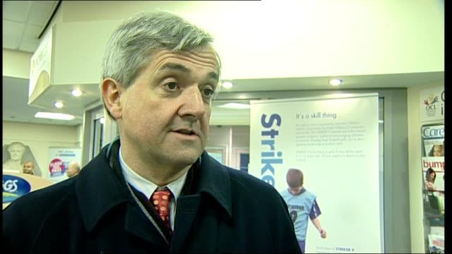 Chris Huhne and Elwyn Watkins visit Oldham Sports Centre ENGLAND Lancashire Oldham EXT Chris Huhne MP and Elwyn Watkins along and arriving at Oldham...