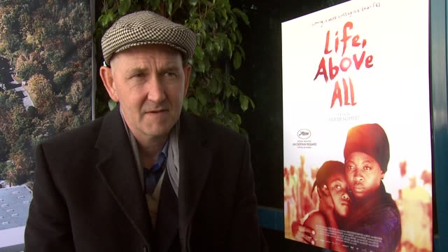 Oliver Schmitz on being in Cannes and the reaction to the film at the Life Above All Interview Cannes Film Festival 2010 at Cannes