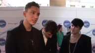 Oliver Sim Romy Madley Croft and Jamie Smith of The XX on what they'd do if they won at the Barclaycard Mercury Prize Arrivals at London England