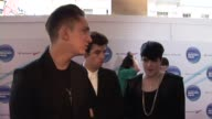 Oliver Sim Romy Madley Croft and Jamie Smith of The XX on who they're looking forward to seeing at the Barclaycard Mercury Prize Arrivals at London...