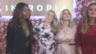 Olivia Cox AJ Odudu Ashley James Fran Newman Young at Intropia Fashion Party at Carnaby Street on November 10 2016 in London England