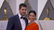 Olivia Munn and Aaron Rodgers at the 88th Annual Academy Awards Arrivals at Hollywood Highland Center on February 28 2016 in Hollywood California 4K