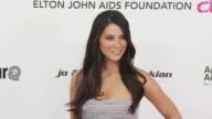 Olivia Munn at the 18th Annual Elton John AIDS Foundation Oscar Party at West Hollywood CA