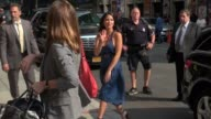 Olivia Munn at the 'Late Show with David Letterman' studio in New York NY on 08/20/12
