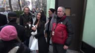 Olivia Munn with her puppy leaving the TODAY show in Celebrity Sightings in New York