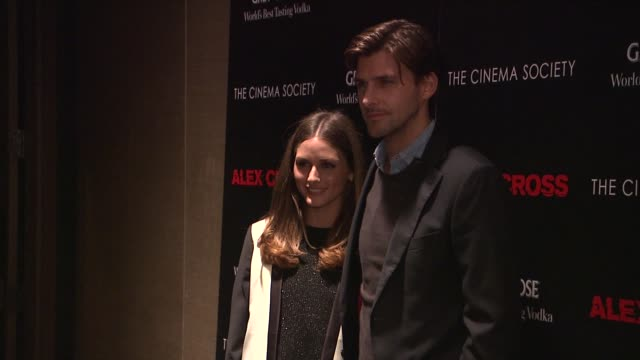 Olivia Palermo and Alex Lundqvist at The Cinema Society Grey Goose Host A Screening Of 'Alex Cross' at Tribeca Grand Screening Room on October 18...