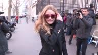 Olivia Palermo at Balmain Paris Fashion Week Pret a Porter 2016 on March 3 2016