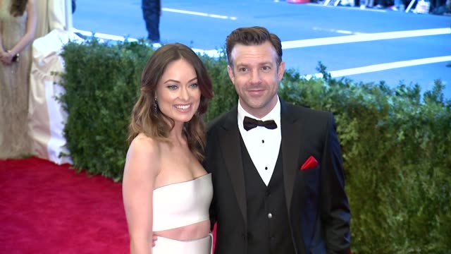 Olivia Wilde and Jason Sudeikis at 'PUNK Chaos To Couture' Costume Institute Gala at Metropolitan Museum of Art on May 06 2013 in New York New York