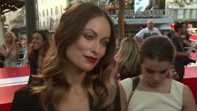 BROLL Olivia Wilde at 'Rush' World Premiere at Odeon West End on September 02 2013 in London England