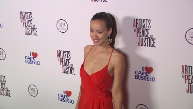 Olivia Wilde at the Olivia Wilde Hosts 'Artists For Haiti' Benefit at Santa Monica CA