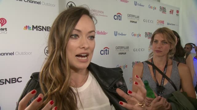 INTERVIEW Olivia Wilde discusses the goals of the event at 2015 Global Citizen Concert at Central Park on September 26 2015 in New York City