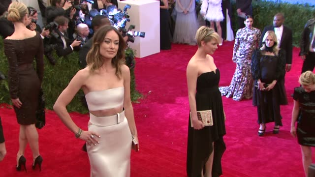 Olivia Wilde Michelle Williams at 'PUNK Chaos To Couture' Costume Institute Gala at Metropolitan Museum of Art on May 06 2013 in New York New York