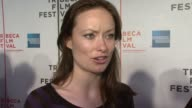 Olivia Wilde on attending the Tribeca Film Festival and her Broadway Play at the 'Gardener of Eden' Tribeca Film Festival Premiere at BMCC in New...
