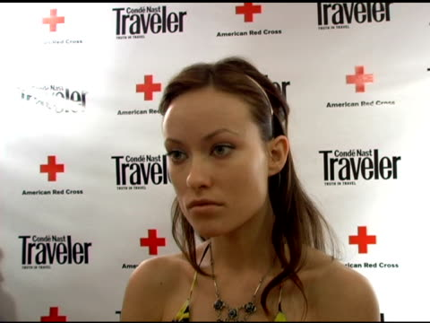 Olivia Wilde on being excited to be here tonight she loves to travel and see new places Italy is one of her favorite spots and she plans to go back...