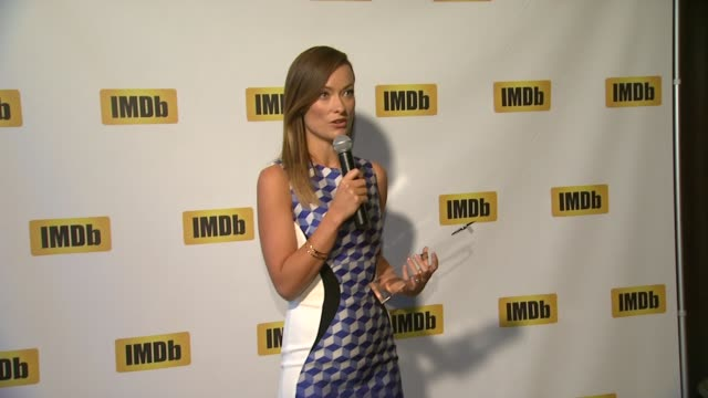 SPEECH Olivia Wilde on her first Hollywood job at Olivia Wilde Receives IMDb's FirstEver STARmeter Award At TIFF 2013 on 9/9/2013 in Toronto Canada