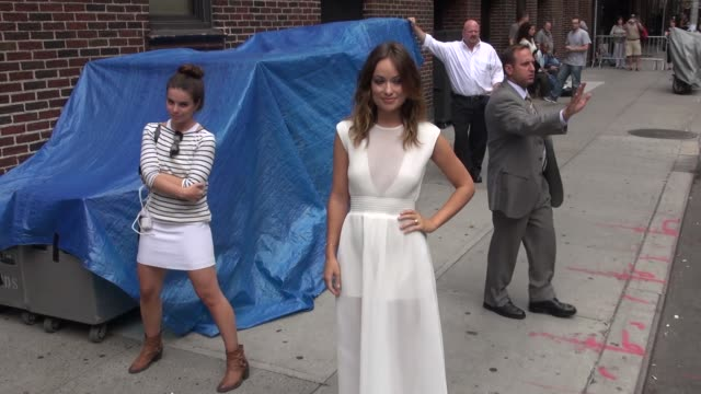 Olivia Wilde outside the 'Late Show with David Letterman' studio Olivia Wilde outside the 'Late Show with David on August 19 2013 in New York New York