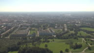 Olympiapark,  Park from above, skyline of Munich