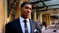 Olympic gold medal winning boxer Anthony Joshua honoured London Buckingham Palace EXT Joshua interview continues SOT