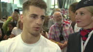 Olympic gold medal winning gymnast Max Whitlock saying he didn't realise just how much support Team GB had until he returned to the UK