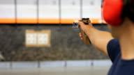 Olympic style gun shooting