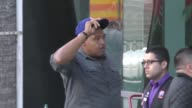 Omar Benson Miller at Staples Center for the Clippers playoff game in Los Angeles at Celebrity Sightings in Los Angeles on April 15 2017 in Los...