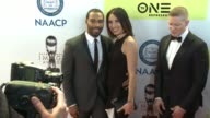 Omari Hardwick and Jennifer Pfautch at 48th NAACP Image Awards at Pasadena Civic Auditorium on February 11 2017 in Pasadena California