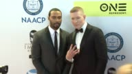 Omari Hardwick and Joseph Sikora at 48th NAACP Image Awards at Pasadena Civic Auditorium on February 11 2017 in Pasadena California