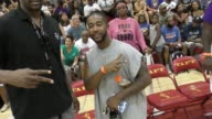 Omarion Govan and Gloria Govan at the 3rd Annual Ariza Elevated Celebrity Charity Basketball Game at Taft High School on July 08 2017 in Woodland...