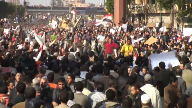 On a day of violence chaos that has turned into running battles in the heart of Cairo the army said it was time for antiMubarak protesters to leave...