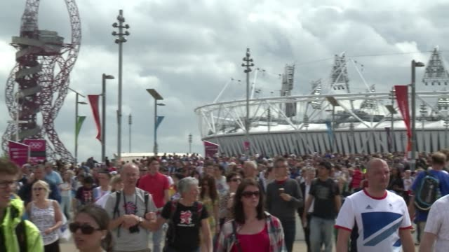 On a day when 25 gold medals were up for grabs the Olympic Park in East London reached capacity as thousands arrived to watch events in the Olympic...