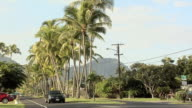 POV on a Road in Kailua, Hawaii