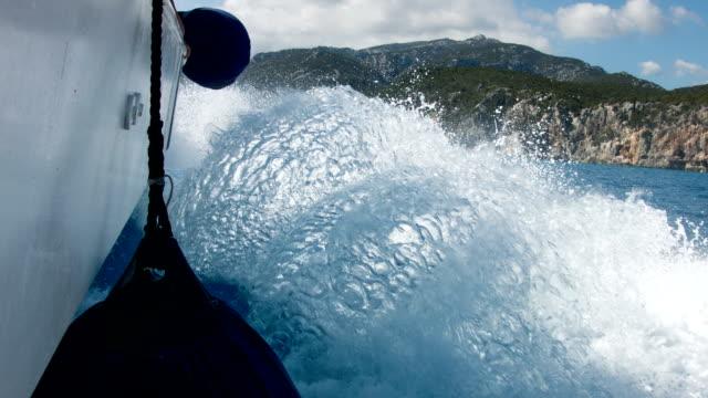 POV: on a speedboat