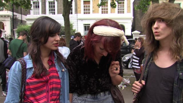 VOX POPS on Amy Winehouse as an icon at the Tributes to Amy Winehouse at Camden Town London