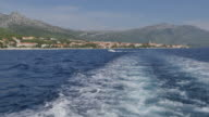 On board boat leaving Orebic to Korcula, Dalmatia, Croatia, Europe
