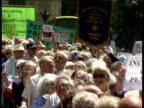 Pensioners Demonstration ENGLAND TGV Mass of pensioners and banners PULL OUT more ditto London Westminster