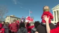 On International Women's Day the Democratic Socialists of America organize a gathering in front of the United States Supreme Court in a demand for...