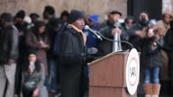 On Saturday January 14 in Washington DC 12yearold Ryan Battle NAN Youth Rep addresses the crowd at the We Shall Not Be Moved march organized by Rev...