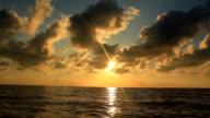 In barca al tramonto