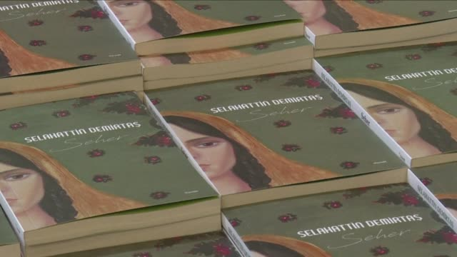 On the first anniverasary of the arrest of Pro Kurdish Peoples Democratic Party Selahattin Demirtas hundreds attend a symbolic signing of his book...
