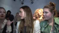 on the front row at Matthew Williamson Poppy Delevingne Mary Charteris Tallulah OrmsbyGore Olivia Palermo Tallulah Le Bon Savannah Miller on February...