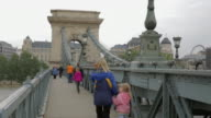 On the Széchenyi Chain Bridge, facing East