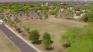 MS AERIAL LA on trees to Mission San Jose / San Antonio, Texas, United States