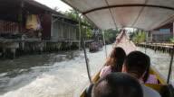 Onboard canal boat to Damnoen Saduak Floating Markets, Bangkok, Thailand, Southeast Asia, Asia