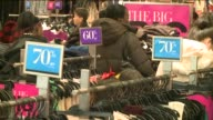One day after Christmas retail stores offer sales on items and gift returns