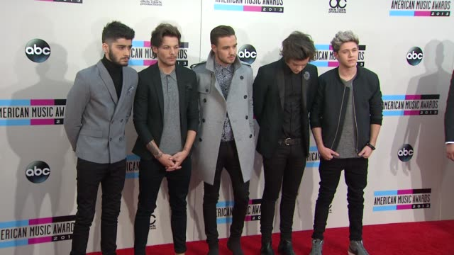 One Direction at 2013 American Music Awards Arrivals in Los Angeles CA
