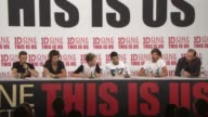 BROLL One Direction at 'This Is Us' One Direction Press Conference on August 19 2013 in London England