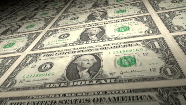 One Dollar Bills loop. HD