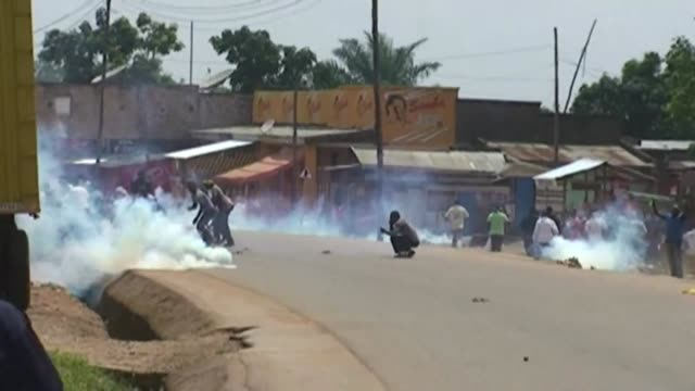 One man is shot dead after security forces open fire to disperse a crowd protesting the government's failure to protect civilians after a gruesome...