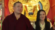 One of the head monks of Tibetan buddhism Thaye Dorje married his childhood friend in India in March